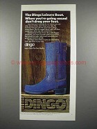 1975 Dingo Leisure Boot Ad - Denim - Don't Drag Feet