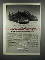 1977 Red Wing Work Oxford Shoe Ad - Hardworking Feet