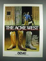 1980 Acme Boots Ad - The Acme West