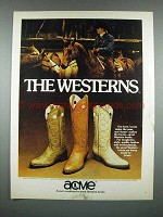 1980 Acme Boots Ad - The Westerns