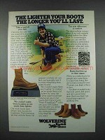 1983 Wolverine Boots Ad - The Longer You'll Last