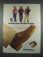 1983 Hush Puppies Shoes Ad - Anything Goes