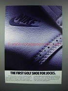 1988 Nike Golf Shoe Ad - First For Jocks