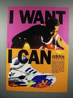 1990 Adidas Torsion Shoe Ad - I Want I Can