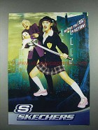 2004 Skechers Sneakers Shoes Ad - Put S in Action - Sword