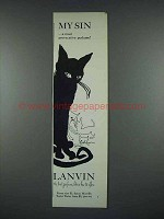 1965 Lanvin My Sin Perfume Ad - Most Provocative