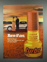 1982 Faberge Turbo Cologne Ad - Turn it On