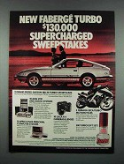 1982 Faberge Turbo Cologne Ad - Datsun 280-ZX Turbo