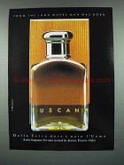 1986 Aramis Tuscany Cologne Ad - Land Man Was Born