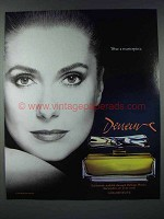 1986 Deneuve Perfume Ad - Wear a Masterpiece