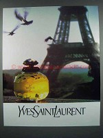 1987 Yves Saint Laurent Perfume Ad