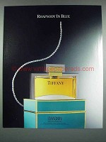 1988 Tiffany Perfume Ad - Rhapsody in Blue