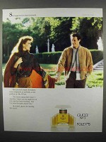1989 Gucci No 3 Perfume Ad - She Tugged His Hand