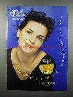 1997 Lancome Poeme Perfume Ad - Words Not Enough