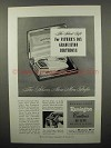 1950 Remington Contour De Luxe Electric Shaver Ad