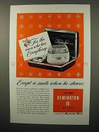 1952 Remington 60 De Luxe Electric Shaver Ad