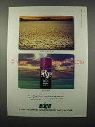 1995 Edge Extra Moisturizing Shaving Gel Ad