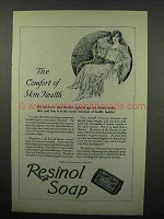 1923 Resinol Soap Ad - The Comfort of Skin Health
