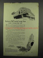 1923 Packer's Soap Ad - New Metal Soap Box