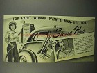 1944 Sierra Pine Soap Ad - For Woman With Man-Size Job - Woman Gas Attendant