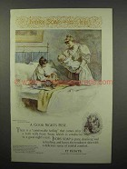 1894 Ivory Soap Ad - A Good Night's Rest