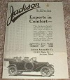 1913 Jackson Car Ad, Experts in Comfort NICE!