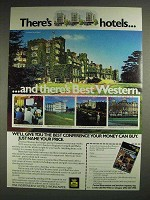 1983 Best Western Motel Ad - There's Hotels