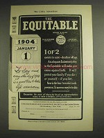 1904 The Equitable Life Assurance Ad - Death or Old Age