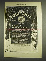 1904 The Equitable Life Assurance Ad, Only a Few Flakes
