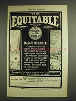 1904 The Equitable Life Assurance Ad - March Weather
