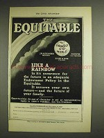 1904 The Equitable Life Assurance Ad - Like a Rainbow