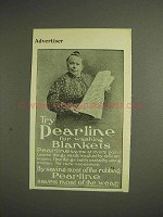 1904 Pearline Detergent Ad - For Washing Blankets