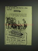 1914 Wrigley's Spearmint Pepsin Gum Ad - Old Lady Shoe
