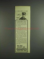 1914 Colgate's Ribbon Dental Cream Ad - Naval Officer