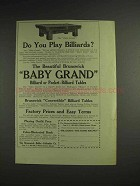 1914 Brunswick Baby Grand Billiard Table Ad - You Play?