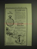 1914 Elgin Lord Elgin Watch Ad - By A Globe Trotter