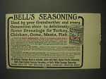 1914 Bell's Spiced Seasoning Poultry Season Advertisement