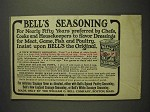 1914 Bell's Spiced Seasoning Poultry Season Ad - For Nearly 50 Years