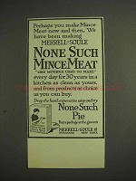 1914 Merrell-Soule None Such Mince Meat Ad