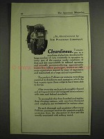 1917 Pullman Company Railroad Car Ad - Cleanliness