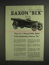 1917 Saxon Six Car Ad - Strong Public Belief In