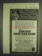 1917 Lucas Velvo-Tone Finish Ad - Your Furniture?