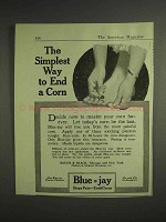 1917 Bauer & Black Blue-Jay Ad - Way to End a Corn