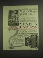 1917 Seneca Vest Pocket Camera Ad - What Size Pictures?