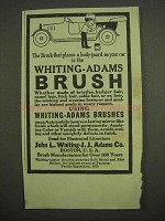 1917 Whiting-Adams Brush Ad - Body-Guard on Your Car