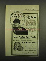 1918 Rigaud Mary Garden Face Powder, Rouge Ad