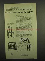 1918 Berkey & Gay Furniture Ad - Distinctive