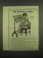1918 Whitman's Chocolate Ad - The Favorite Sampler
