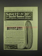 1918 Buckskin Tires Ad - Quality Rubber Tires