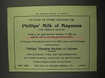 1918 Phillips' Milk of Magnesia Ad - Other Alkalies
